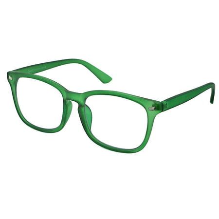 Cyxus Matte Green Blue Light Blocking Computer Gaming Glasses for Reduce Eyestrain UV, Gift for Men/Women ()