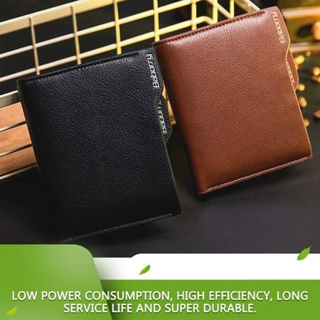 Antimagnetic Men Wallet Anti RFID Male Zipper Purse Short PU Leather Wallet - image 4 de 10