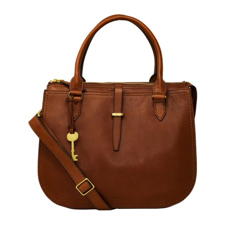 - Fossil Women's Ryder Leather Top-Handle Satchel - Brown