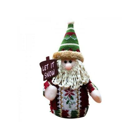 Cute Christmas Doll Gift Santa Claus Elk Snowman Festive Party Decor ()