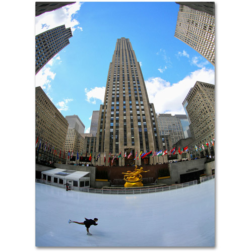 "Trademark Fine Art ""Rockefeller Center"" Canvas Art by CATeyes"