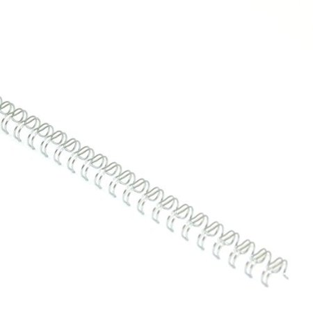 """Silver 5/16"""" 3:1 Pitch Twin Loop Wire - 100pk, By MyBinding"""