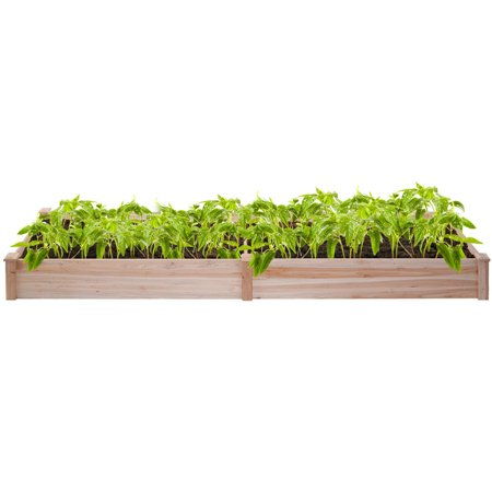 Wooden Vegetable Raised Garden Bed Backyard Patio Grow Flowers Plants Planter - image 1 of 5