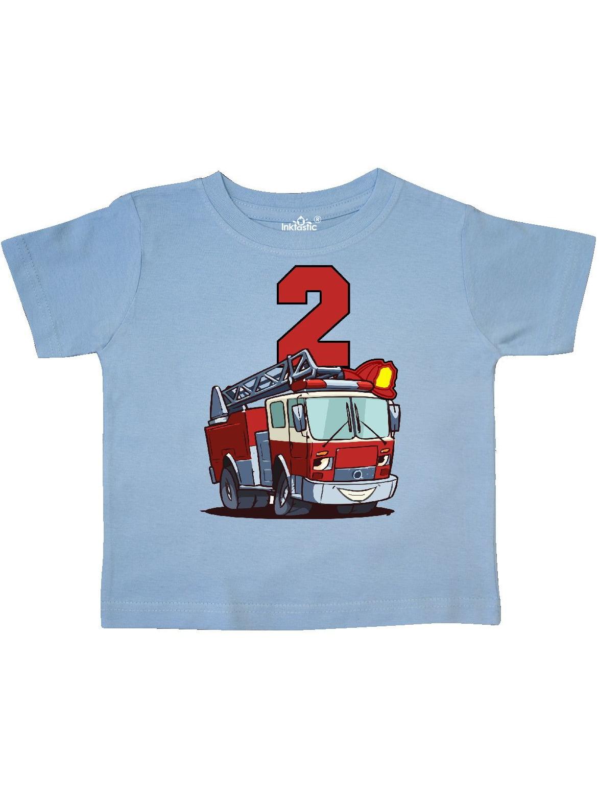 75c8bdcf6 Inktastic - 2nd Birthday Fire Truck Toddler T-Shirt - Walmart.com
