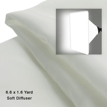 Loadstone Studio 6.6 x 1.6 Yard (6M x 1.4M) Seamless White Diffusion Fabric, DIY Softbox Lighting Tents, Soft Nylon Silk for Professional Photography Lighting, WMLS4615
