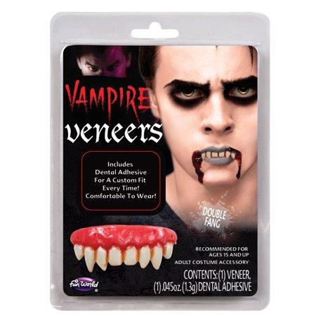 Double Fang False Teeth Vampire Dental Veneer Horror Costume Makeup Accessory](Teeth Fangs)