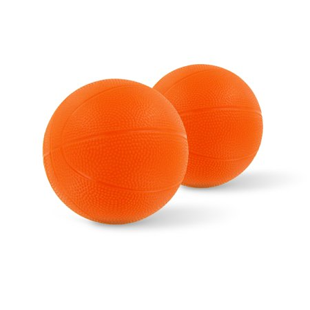 "Toddler & Little Kids Replacement Basketball - 6"" Diameter - Compatible With Little Tikes EasyScore & Fisher-Price - 2 Pack (Orange)"