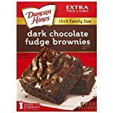Duncan Hines Dark Chocolate Fudge Brownie 18.2 Oz. Pack Of