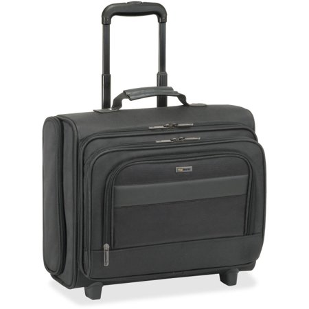 Classic Carrying Case (Roller) for 15.6 Notebook, Accessories - Black - Ballistic Poly, Polyester - Checkpoint Friendly - Handle - 13 Height x 15.5 Width x 7 Depth