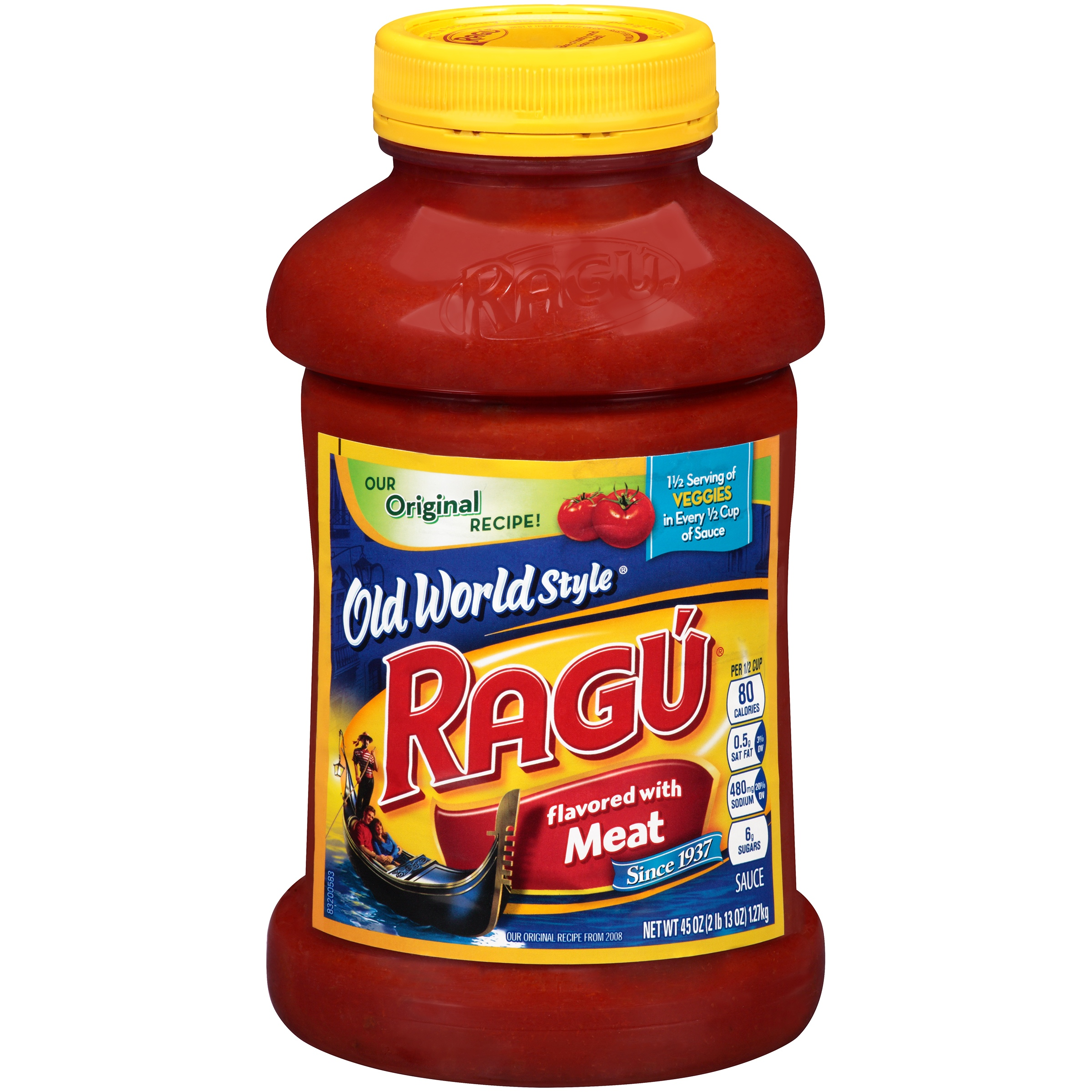 (2 Pack) Ragu Old World Style Traditional Meat Sauce 45 Oz