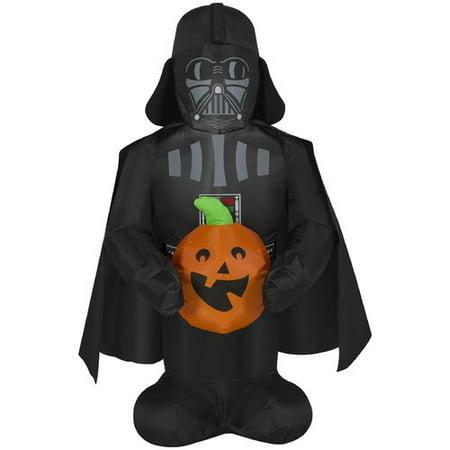 The Holiday Aisle Darth Vader Holding Pumpkin SM Star Wars - Darth Vader Pumpkin Carving