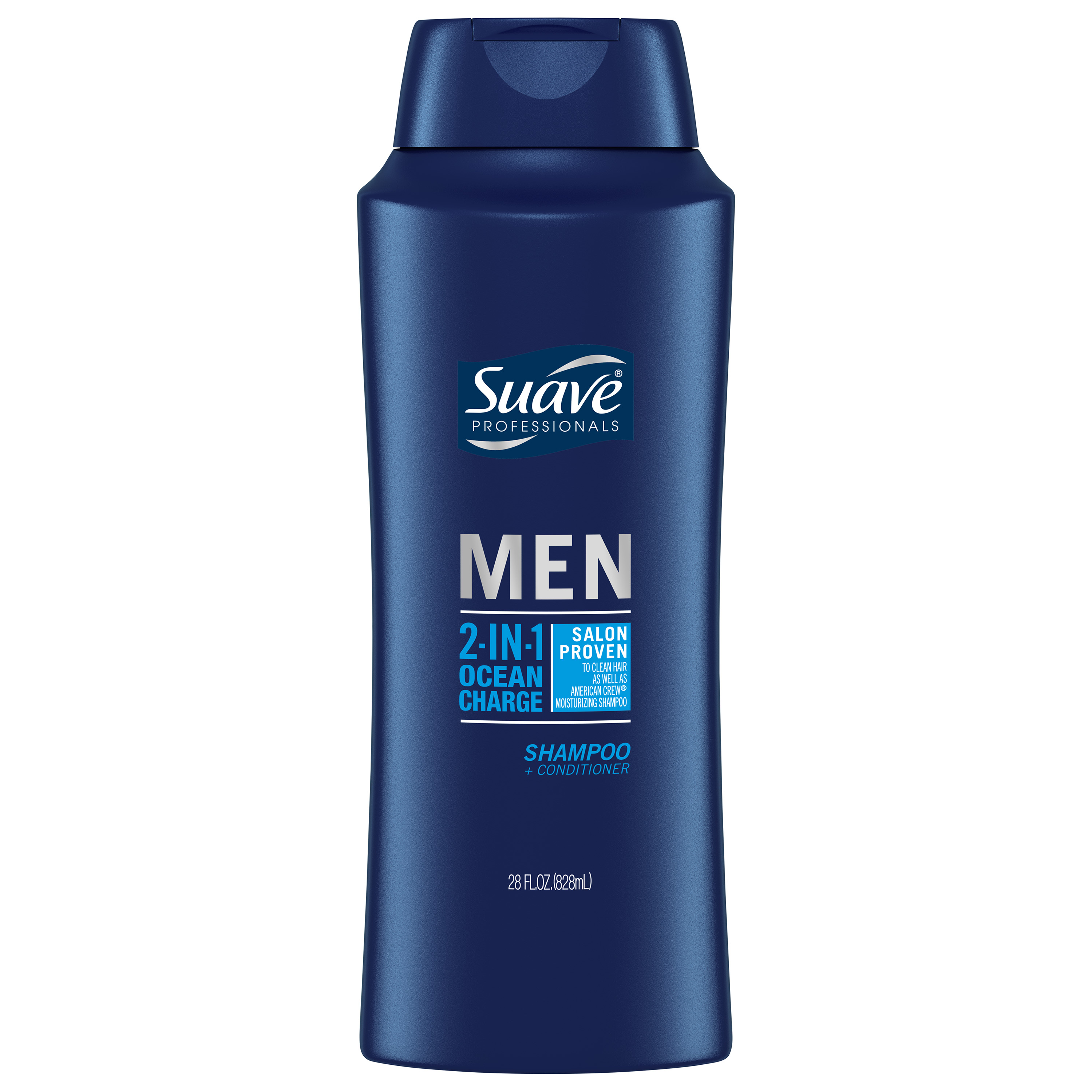 Suave Ocean Charge 2 in 1 Shampoo and Conditioner, 28 oz