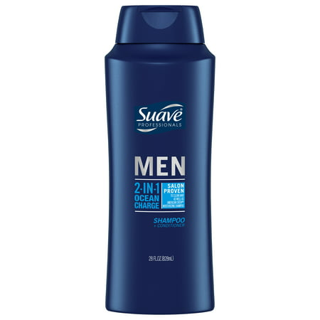Suave Ocean Charge 2 in 1 Shampoo and Conditioner, 28