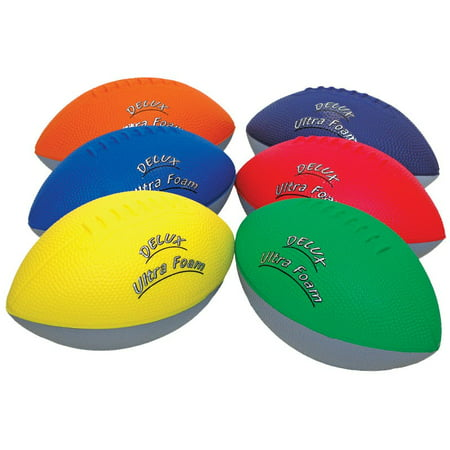 - Delux Ultra Foam Football Set of 6