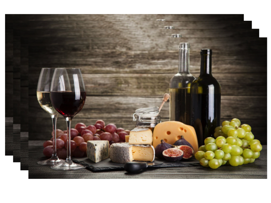 """Dainty Home Grapes and Wine Foam Placemat, 13""""x19\ by Dainty Home"""