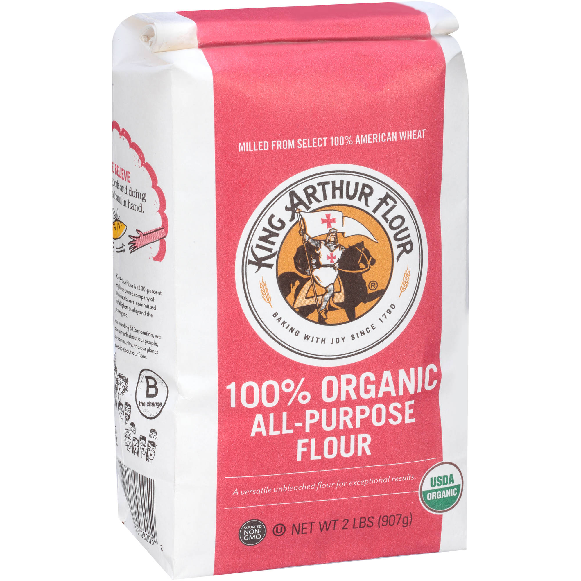 King Arthur Flour 100% Organic All-Purpose Flour, 2 lbs