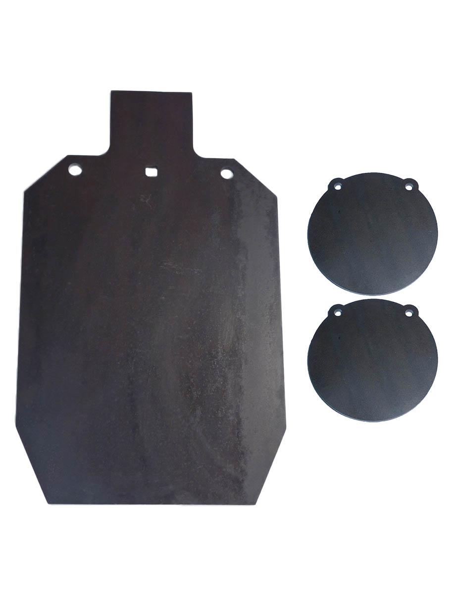"""Lot of AR500 12"""" x 20"""" IDPA ISPC 3 8"""" and 2 8"""" Target Gong Laser Cut by Tactical Scorpion Gear"""