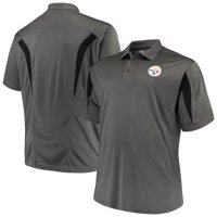 Men's Majestic Charcoal Pittsburgh Steelers Big & Tall Pieced Polo