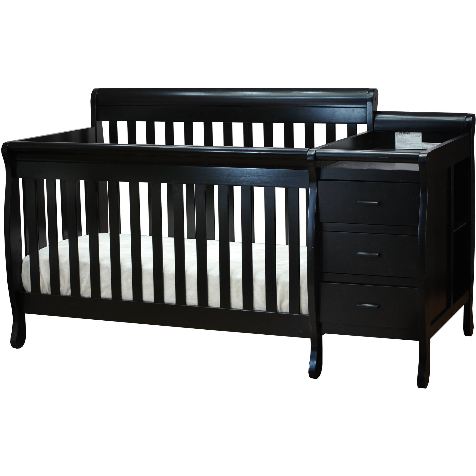 Athena Kimberly 3-in-1 Convertible Crib and Changer Combo, Choose Your Finish