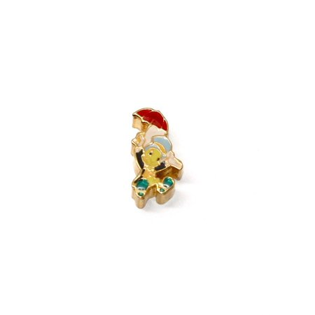 BRACCIALE DISNEY JIMINY CRICKET GOLD STAINLESS STEEL GOLD PLATED CHARM - Disney Magic Band Charms
