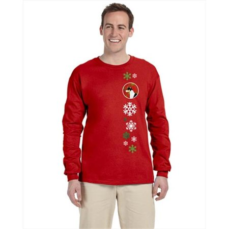 Carolines Treasures SS4721-LS-RED-2XL Basenji Red Snowflakes Long Sleeve Red Unisex Tshirt - 2 Extra Large - image 1 de 1