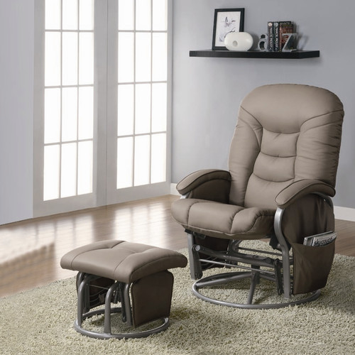 Latitude Run Quarles Manual Glider Recliner with Ottoman