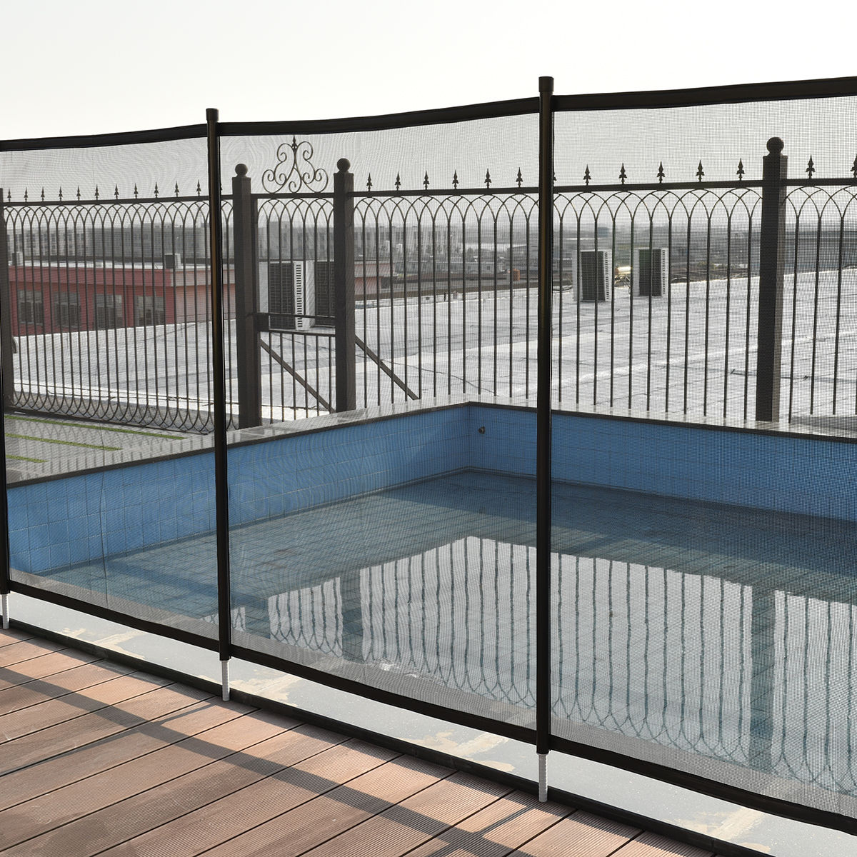 Costway 4'x12' In-Ground Swimming Pool Safety Fence Section Prevent Accidental Drowning by Costway