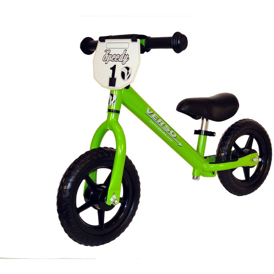 "Verso 10"" Green Speedy Balance Bike"