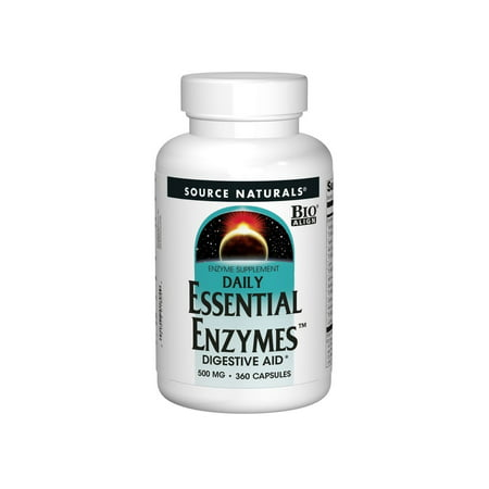Source Naturals Daily Essential Enzymes 500mg 360 Capsules SN1804 (Source Naturals Enzymes)