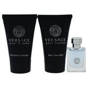 Versace Pour Homme Cologne Gift Set for Men, 3 Pieces