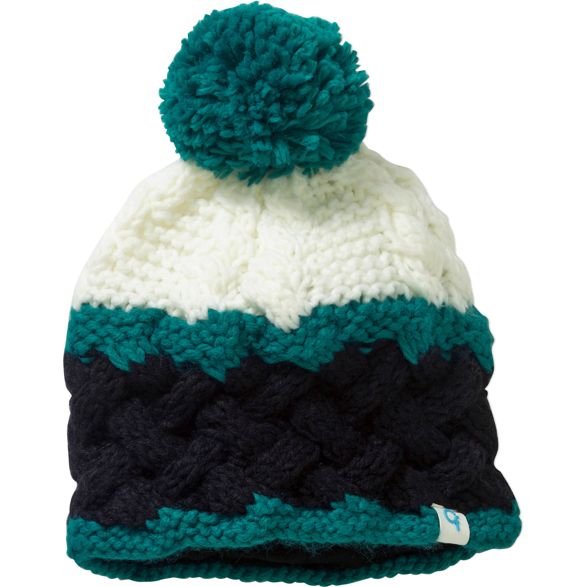 Cold Front Ladies Chunky Knit Beanie w/Pom