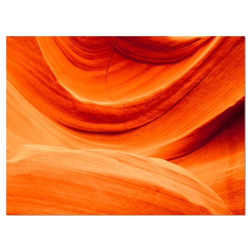 Design Art 'Antelope Canyon Orange Wall' Graphic Art on Wrapped Canvas