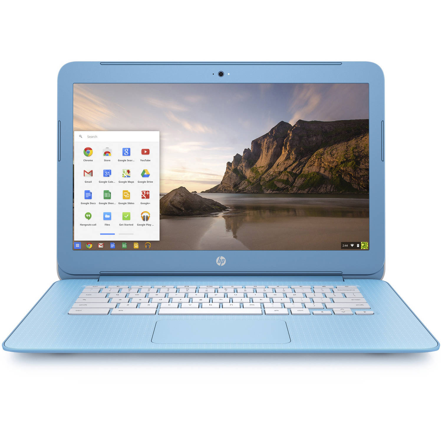 "HP 14"" Snow White/Pastel Sky Blue 14-Ak060Nr Chromebook PC with Intel Celeron N2940 Quad-Core Processor, 4GB Memory, 16GB eMMC Hard Drive and Chrome OS"