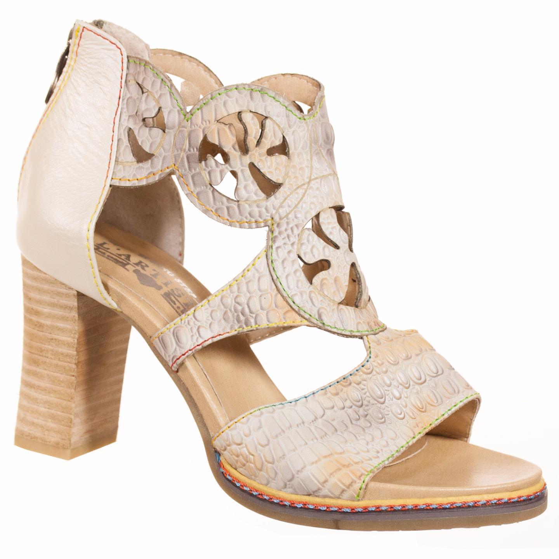 L'Artiste Collection By Spring Step Women's Aleah Sandal Bone EU 37 US 7 by Spring Step