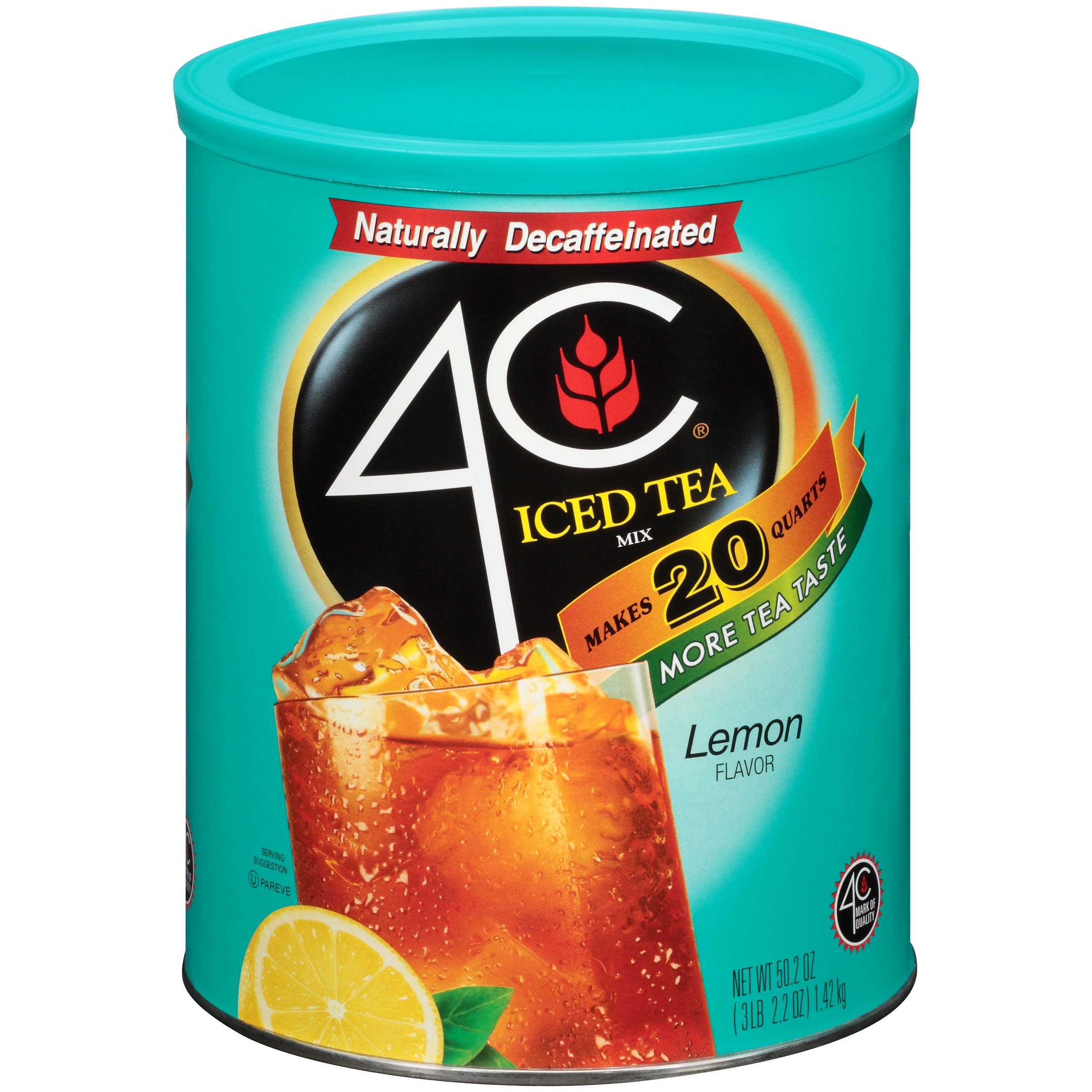 Image of 4C Drink Mix, Lemon Iced Tea, 50.2 Oz, 1 Count