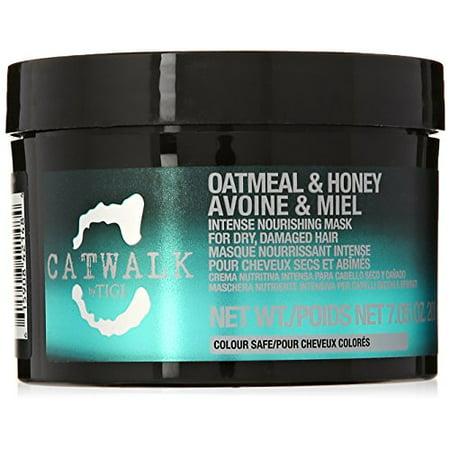 Tigi Catwalk Oatmeal and Honey Intense Nourishing Mask for Unisex, 7.05 (Oatmeal And Honey Face Mask For Acne)