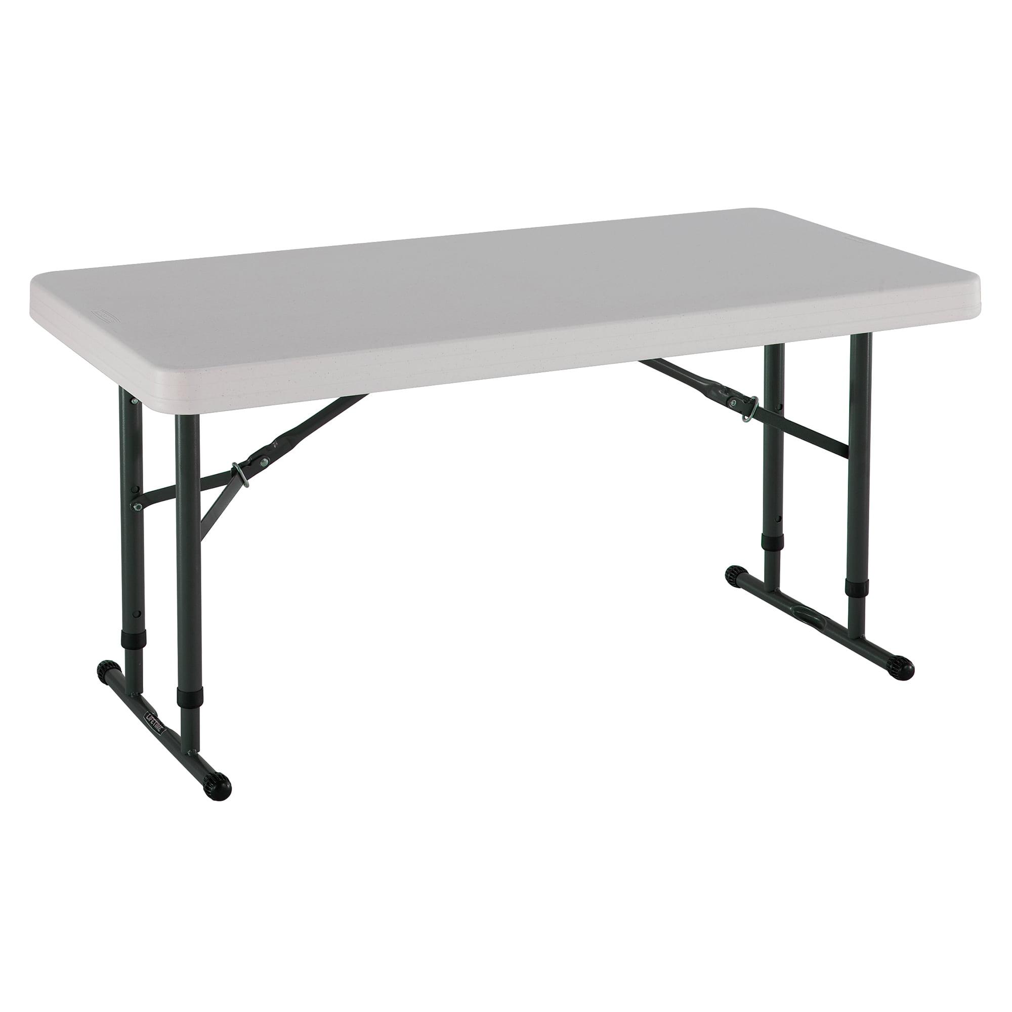 Almond Pack of 4 8 Feet Lifetime 42984 Folding Utility Table