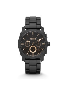 Fossil Men's Machine Mid-Size Chronograph Black Stainless Steel Watch (Style: FS4682)
