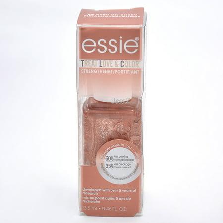 Essie Treat Love & Color Strengthener Nail Polish #89 Keen On Sheen Metallic 0.46 (Best Silver Metallic Nail Polish)