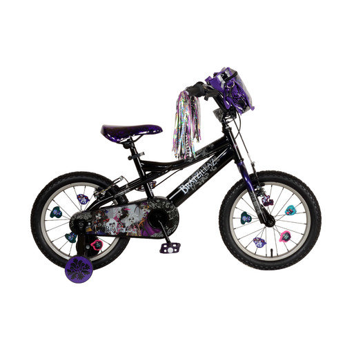 Bratz Kid's Bike, 16 inch Wheels, 11 inch Frame, Girl's Bike, Black/Purple