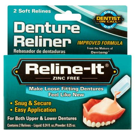 Reline-It Advanced Denture Reliner Kit For Both Upper & Lower Dentures, Easy Application, 2 Soft (Best Denture Reline Kit)