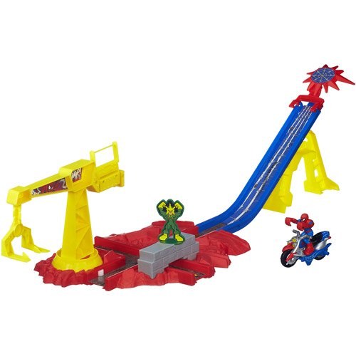 Playskool Heroes Marvel Super Hero Adventures Spider-Man Crane Capture Track Set