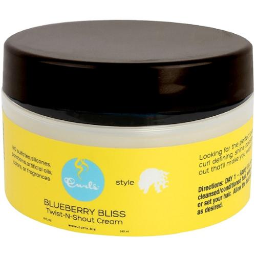Curls Blueberry Bliss Twist-N-Shout Cream 8 oz (Pack of 2)