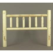 "64"" Cedar Log-Style Wooden Queen Bed Headboard"