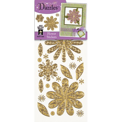 Dazzles Flower Stickers (Set of 4)
