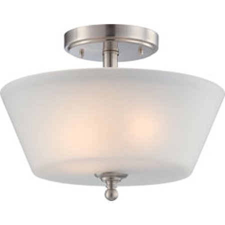 Replacement for 60/4151 SURREY 2 LIGHT SEMI FLUSH FIXTURE WITH FROSTED GLASS BRUSHED NICKEL CONTEMPORARY replacement light bulb (Surrey 2 Light)