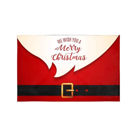 MKHERT Funny Red Santa Claus Wish You A Merrry Christmas Placemats on number one kitchen, high school kitchen, hello kitty kitchen, brick house kitchen, my dream kitchen, my secret kitchen,