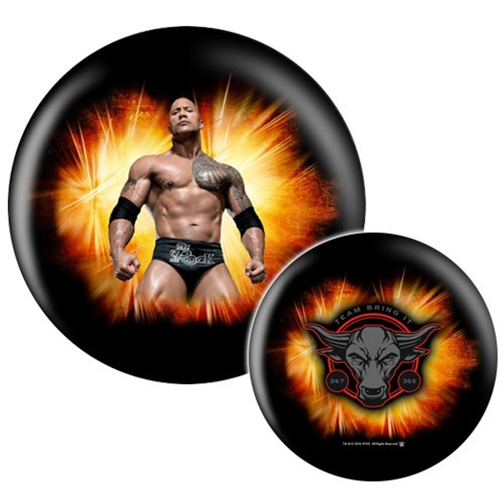 WWE Wrestlemania Superstar The Rock Bowling Ball- Limited Edition (12lbs)