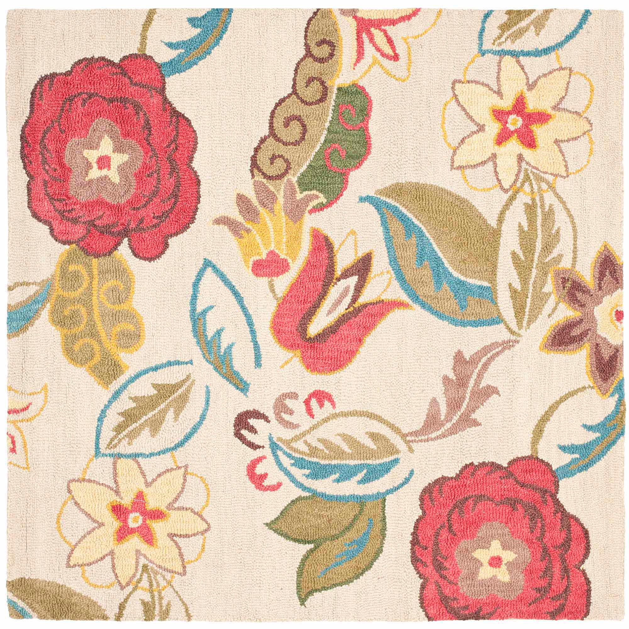 Safavieh Blossom Nancy Wool Area Rug, Beige/Multi