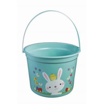 EASTER BUCKET - BLUE -MIN=12 E 12 PACK](Easter Bucket)